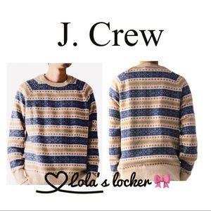 J. Crew Fair Isle Native Pattern Knit Sweater